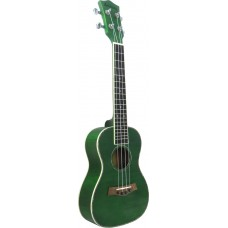 Ashbury Concert Ukulele Flamed green