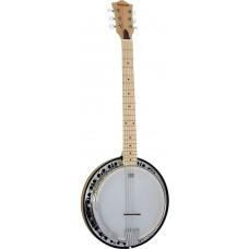 Ashbury 6 String Guitar Banjo, Maple