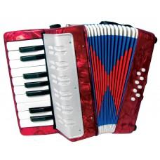 Scarlatti Child's Piano Accordion, Red