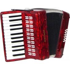 Scarlatti Piano Accordion, 12 Bass. Red