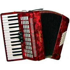 Scarlatti Piano Accordion, 48 Bass. Red