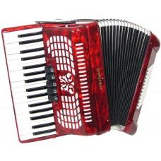 Scarlatti Piano Accordion, 72 Bass. Red