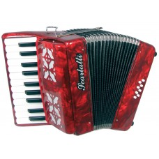 Scarlatti Piano Accordion, 8 Bass. Red