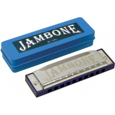 Jambone 10 Hole Harmonica in A