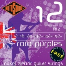 Rotosound R12 Roto purple medium heavy electric guitar strings